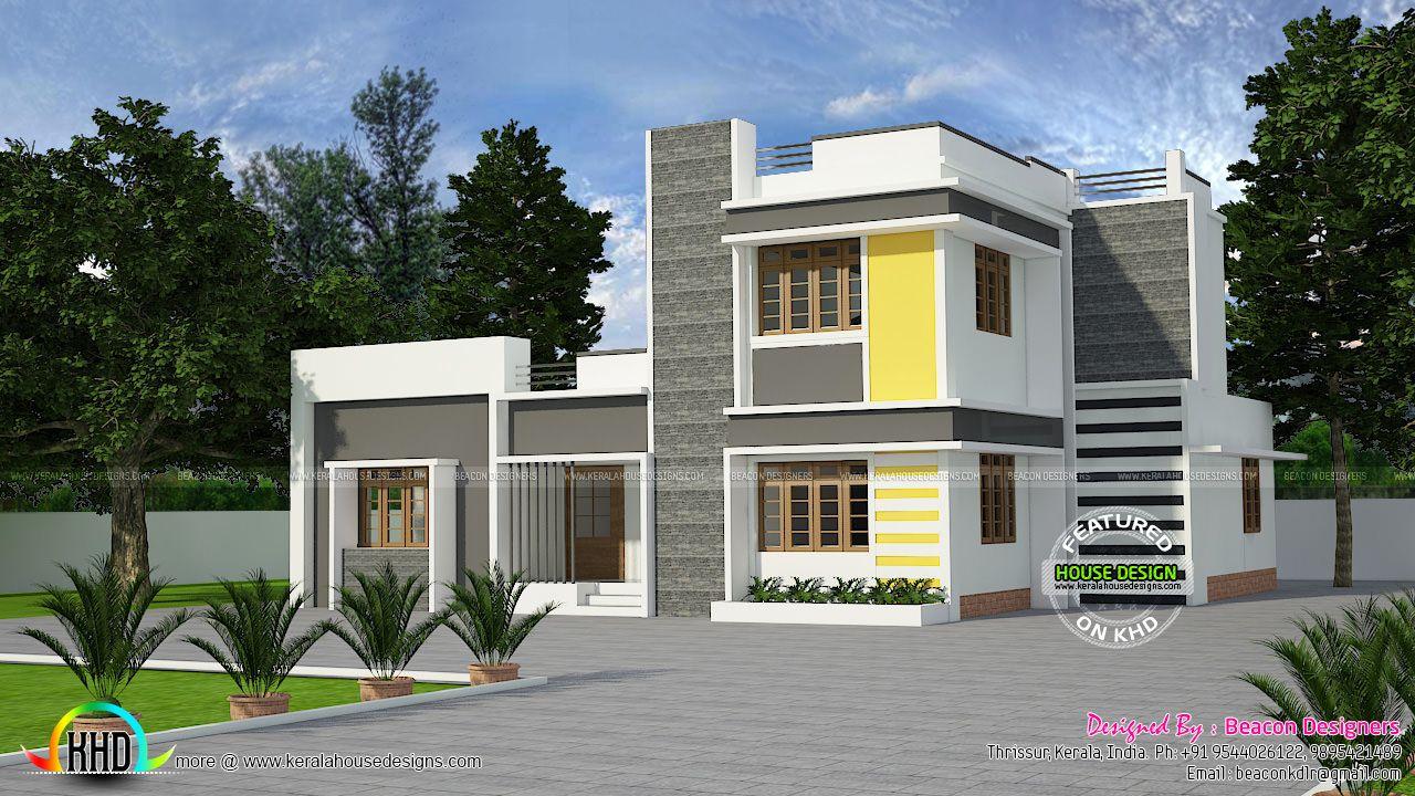1953 Square Feet 3 Bedroom Beautiful Modern Home Kerala
