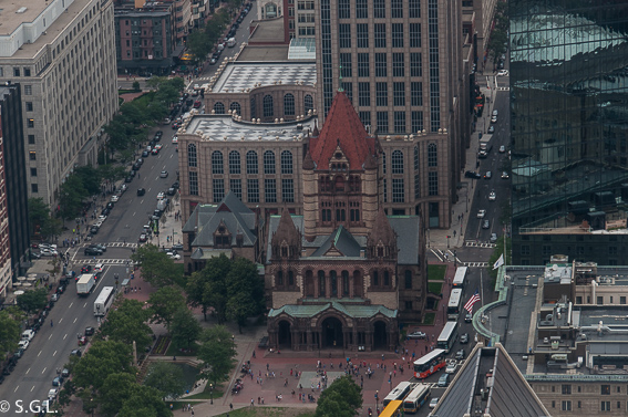 Trinity church en Copley plaza-Boston