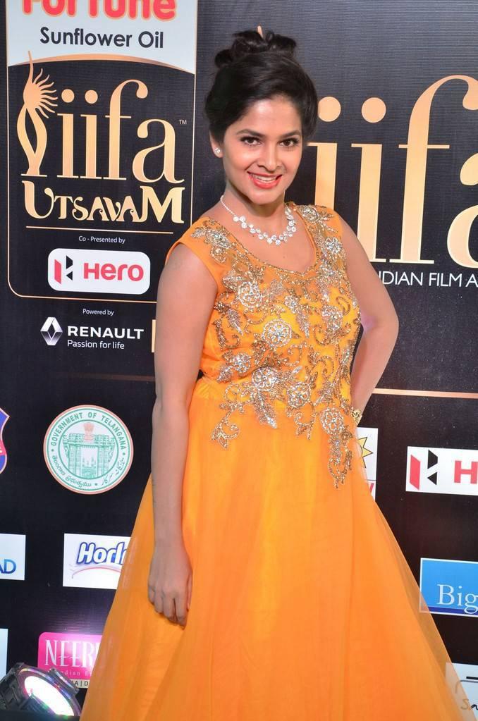 Telugu Model Madhumitha At IIFA Awards 2017 In Yellow Dress
