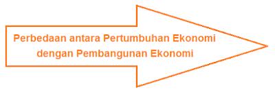 Perbedaan antara Pertumbuhan Ekonomi dengan Pembangunan Ekonomi