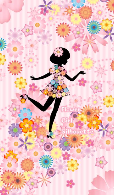 Flower Girl Silhouette -