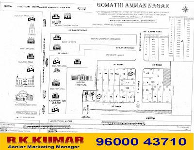 Kadambathur Plots for Sale - Thanigai Estate - 9600043710