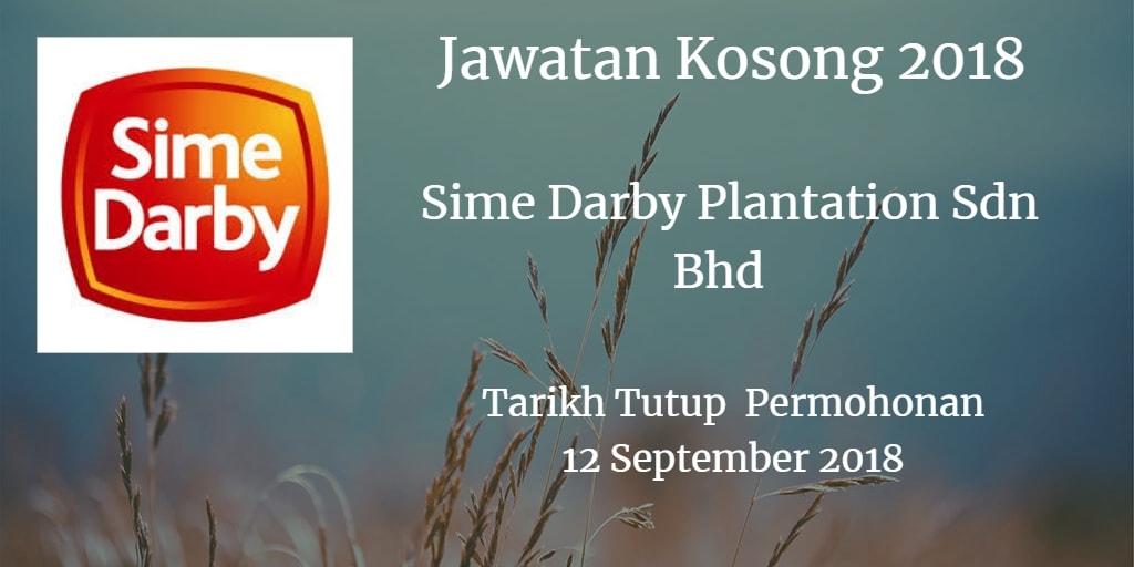 Jawatan Kosong Sime Darby Plantation Sdn Bhd 12 September 2018