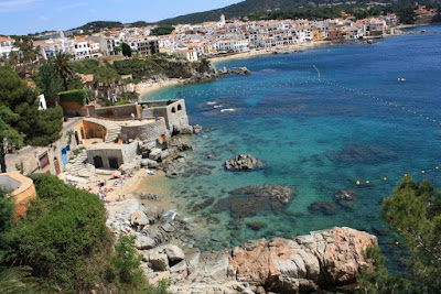Playas de Calella de Palafrugell desde el Camino de Ronda