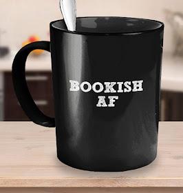 Bookish AF coffee mug on Etsy