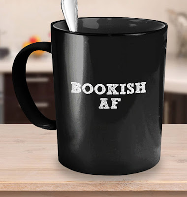 Bookish AF coffee mug on Etsy