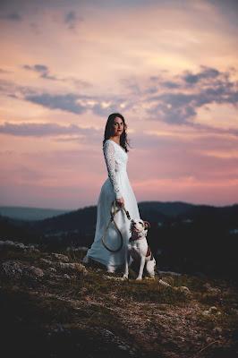 Novia con su mascota