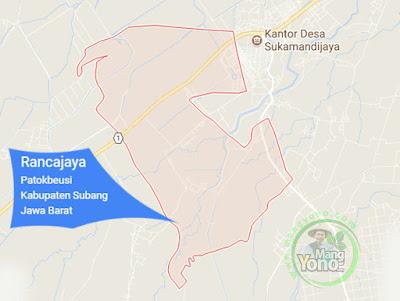 PETA : Desa Rancajaya, Kecamatan Patokbeusi