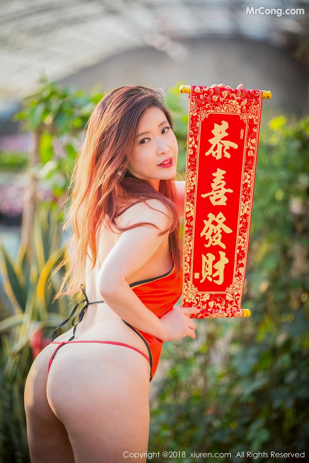 Image XIUREN-No.887-Xi-Xi-Bai-Tu-MrCong.com-008 in post XIUREN No.887: Người mẫu Xi Xi Bai Tu (西希白兔) (44 ảnh)