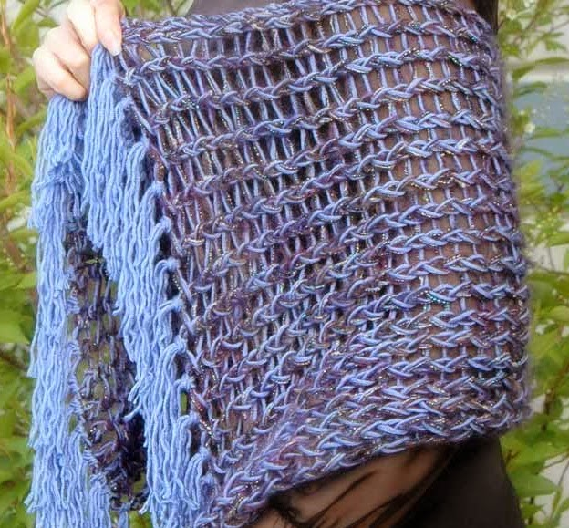 The Knifty Knitter: Rectangle Shawl