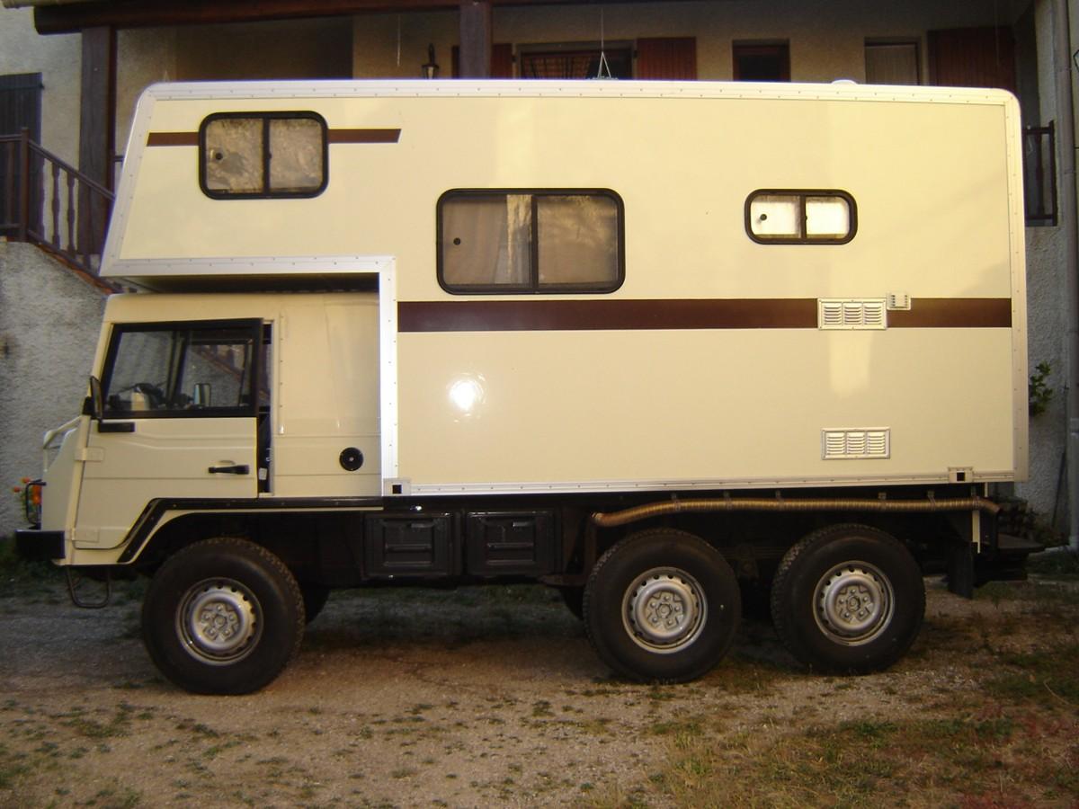 le camping car passe partout pinzgauer. Black Bedroom Furniture Sets. Home Design Ideas