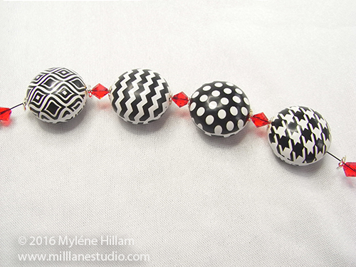 Continue stringing the pattern until you reach the desired length for your bracelet.