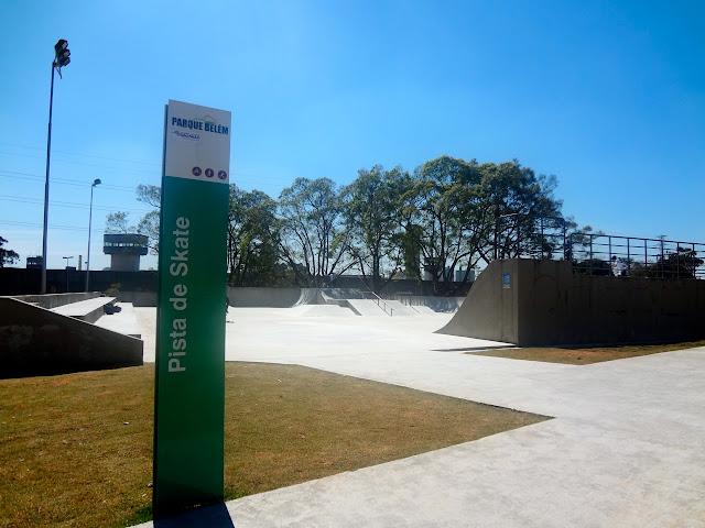 Pista de skate no Parque Belém