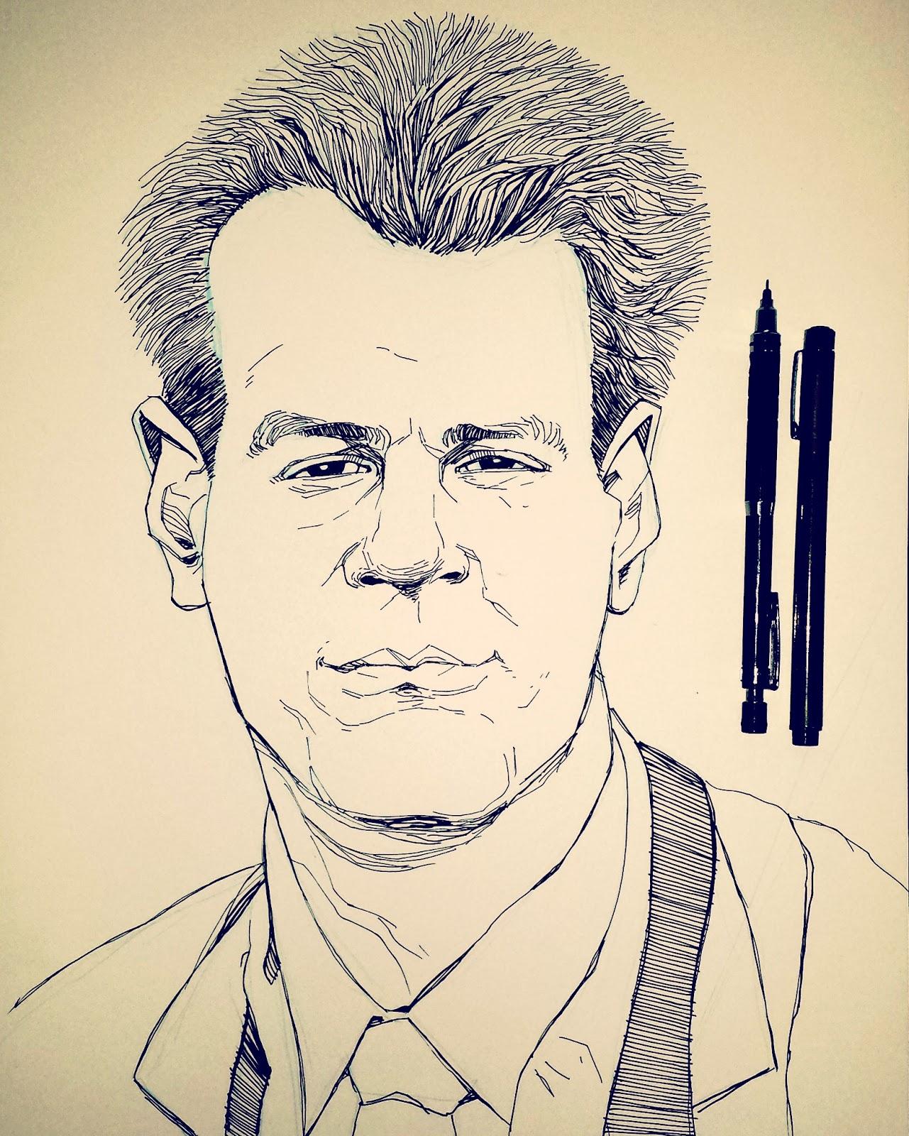Dan Aykroyd Ray Stantz Inktober Drawing