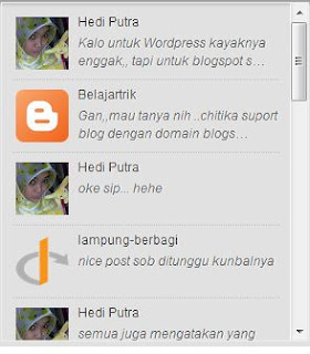 Cara Membuat Recent Comment with Avatar