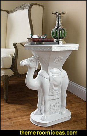 Exotic Camel Side Table  Moroccan decorating ideas - Moroccan decor - Moroccan furniture - decorating Moroccan style - Moroccan themed bedroom decorating ideas - Exotic theme decorating - Sultans Palace - harem style bedrooms Arabian nights Moroccan bedroom furniture - moroccan wall decoration ideas