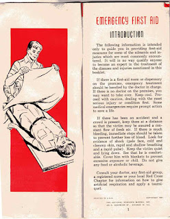 1957 First Aid Booklet inside cover