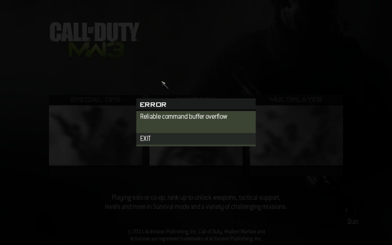 Mengatasi Error Game COD: Modern Warfare 3 | Free Software