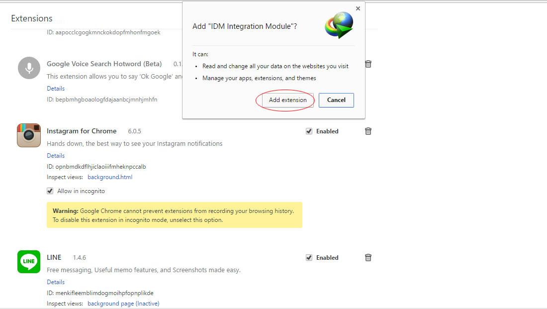 Cara Add On Idm Ke Chrome