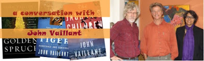 John Vaillant wrote Golden Spruce, Tiger, Jaguar's Children