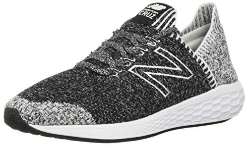 0942c2d77e737 New Balance Men's Cruz V2 Sockfit Fresh Foam Running Shoes, Black/White, 10  D US 2019
