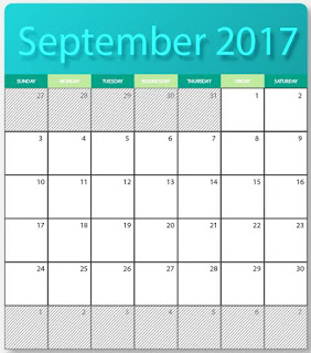 printables two blank calendars for September  2017 - editable in eps and ai formats images with HD. for free download.
