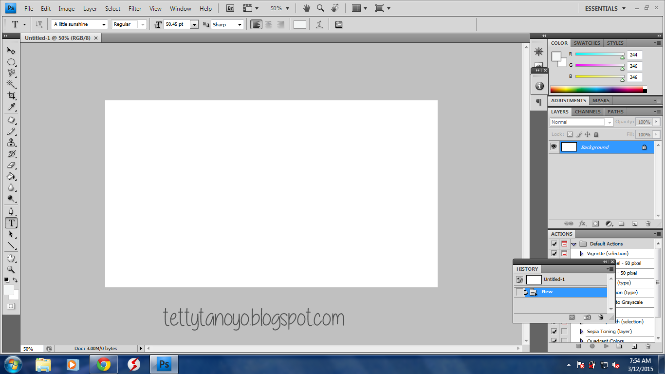 Membuat file baru di Photoshop cs4