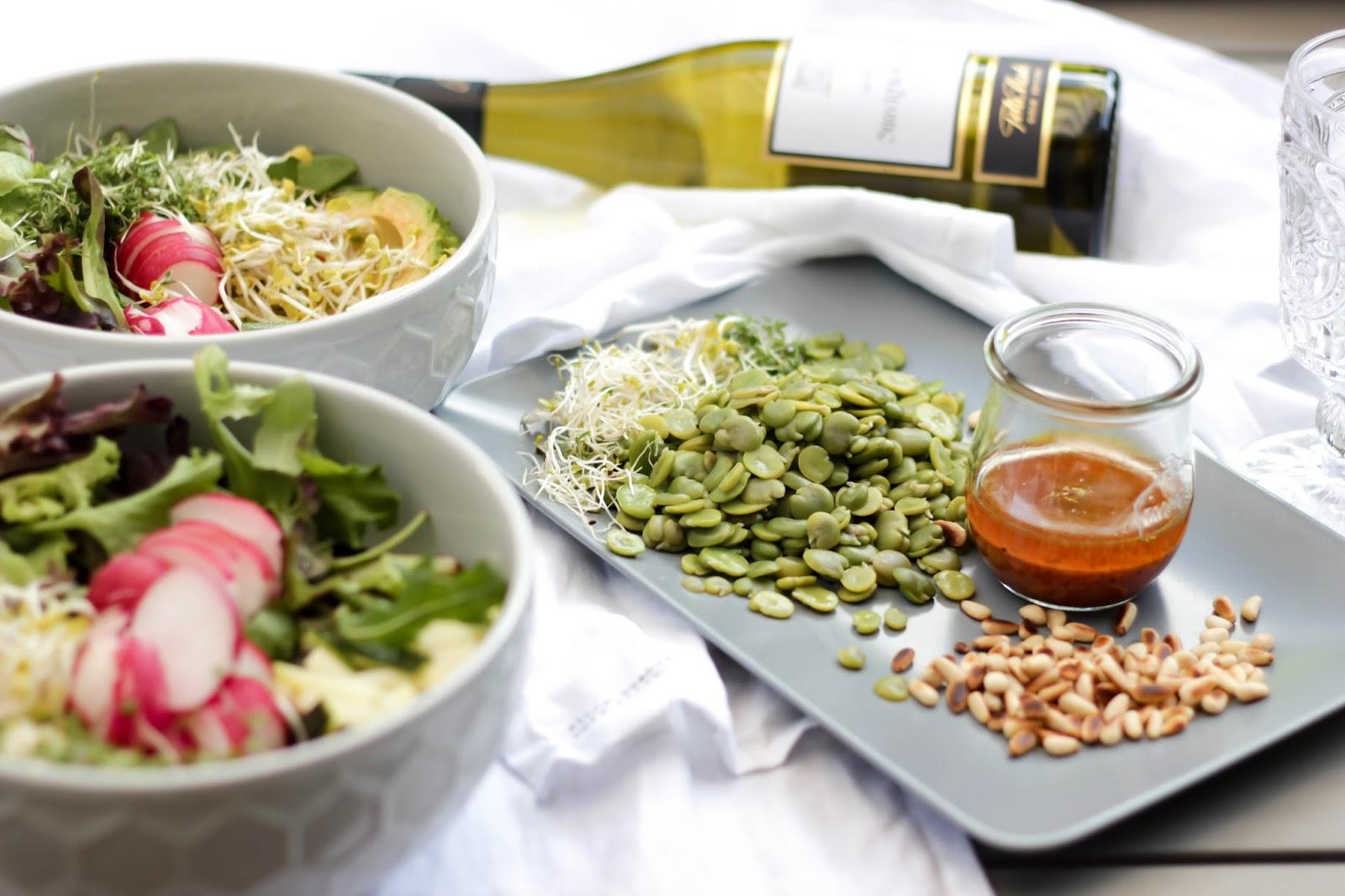 Rezept Salat mit Dicken Bohnen