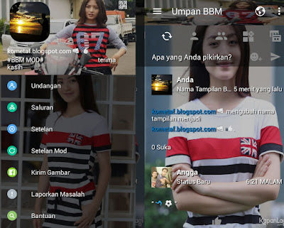 BBM MOD N.Wilona Beauty APK Artis Indonesia