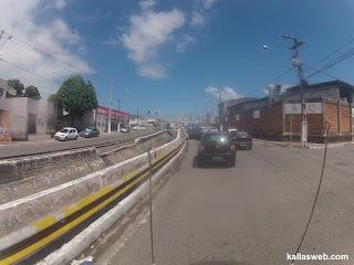 Saindo de Aracaju/SE com a moto consertada.