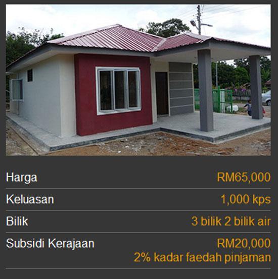 Kategori Rumah Mesra Rakyat 1Malaysia SPNB - Jenis 1