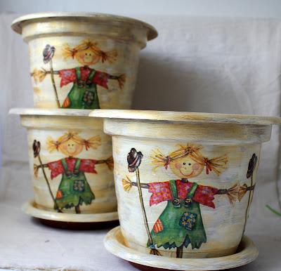 вазон, горшок, своими руками, декор вазонов
