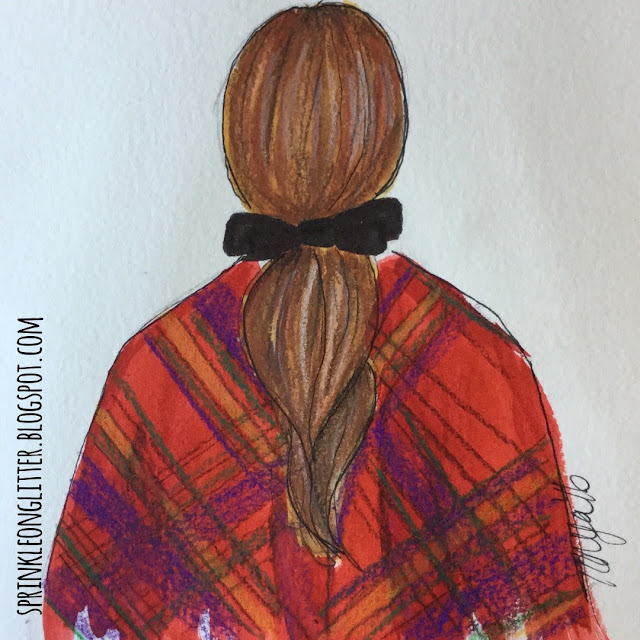 Sprinkle On Glitter Blog// Sketchworthy Reads-Atlantic Pacific// ponytail & poncho