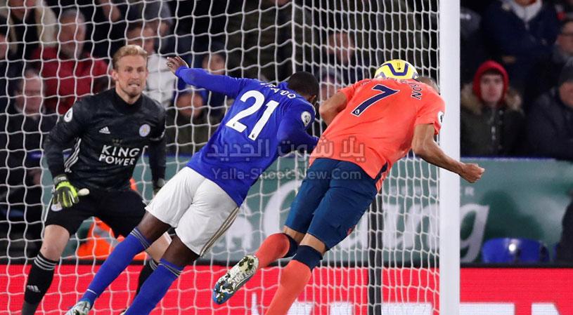 ليستر سيتي يحقق فوز صعب وهام على فريق إيفرتون بهدفين لهدف في الدوري الانجليزي