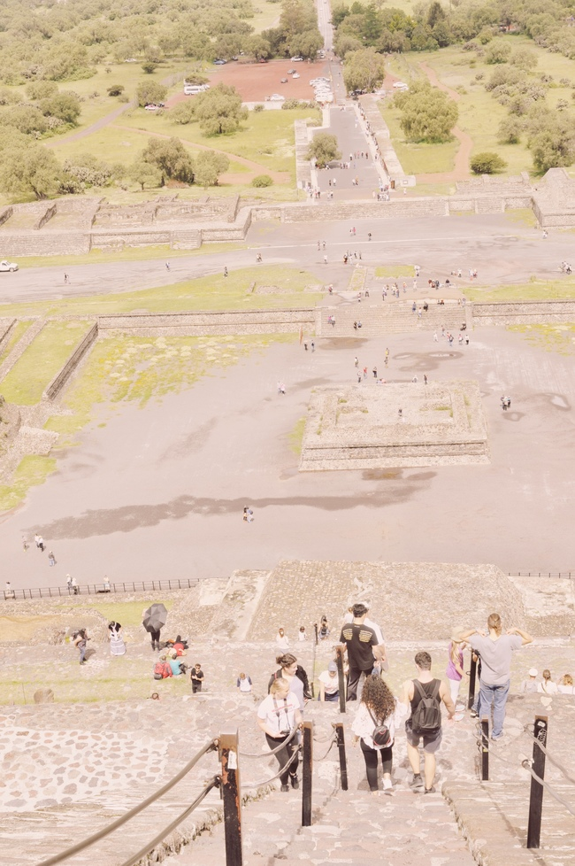 Visiting Teotihuacan Mexico City Day Trip pyramid of the sun steps