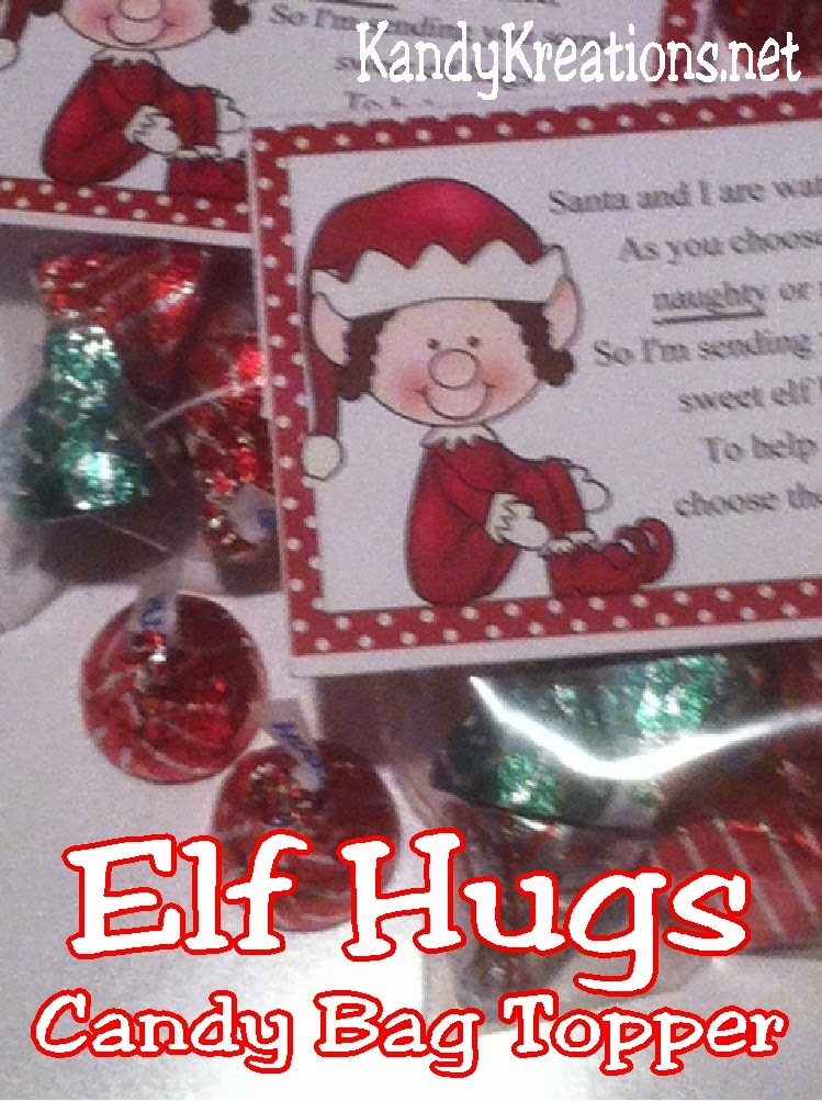 Help your kids to choose the right this Christmas with a fun gift from their Elf on the Shelf.  These elf hugs candy topper printables are perfect to remind them that they need to be nice for Christmas in a sweet way.
