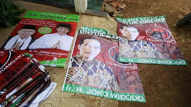 Usai 'Raja Jokowi', Kali Ini Atribut Kampanye Jokowi-Ma'ruf Dipasang di Masjid