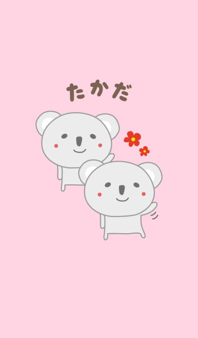 Cute koala theme for Takada