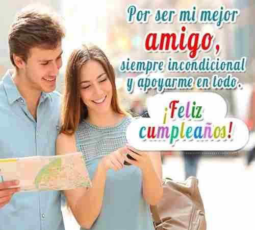 Para ti querido amigo feliz cumpleaños