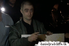 Daniel Radcliffe signs poster for The Children's Hospital of Richmond