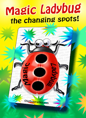Title image for the magic ladybug card trick