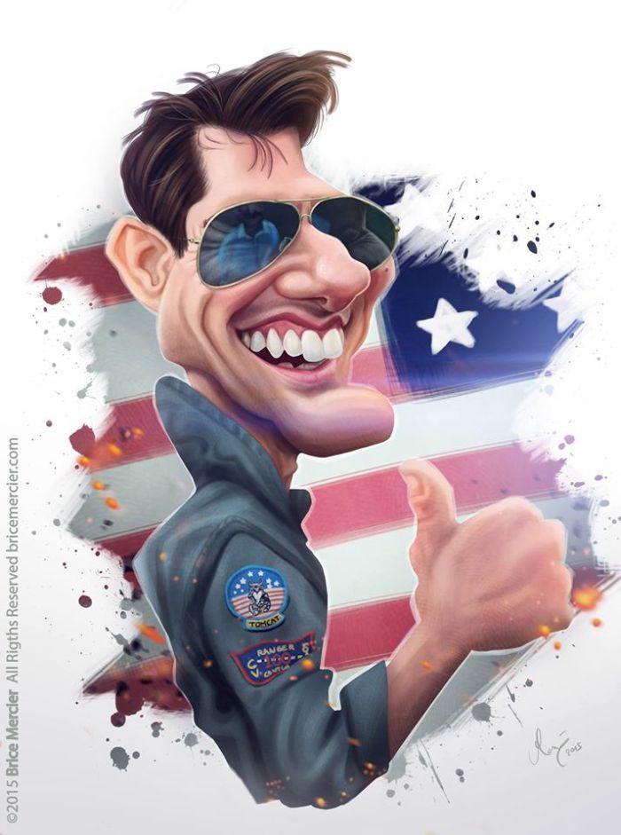 Tom Cruise por Brice Mercier