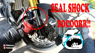 Mengganti seal dan oli shock upside down xabre