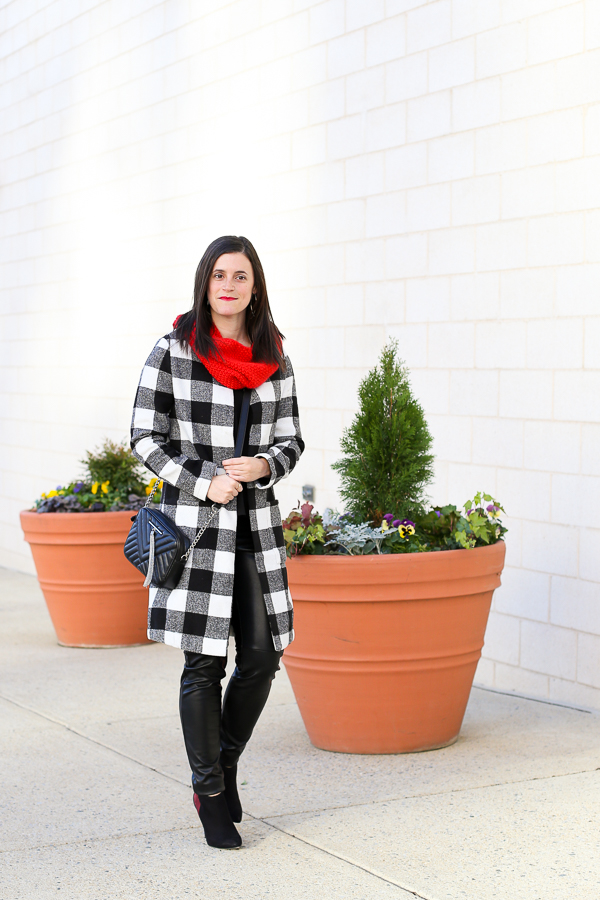 Naturally Me, Holiday Outfit Idea, How to Wear A Plaid Coat for the Holidays, SheIn Plaid Coat, What to Wear for the Holidays, Holiday Outfit