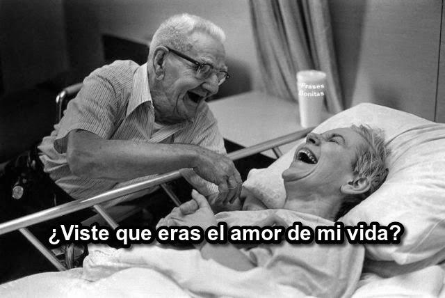 ¿Viste que eras el amor de mi vida? Que lindo tener a nuestro lado la persona que queremos hasta el ultimo momento de nuestra vida.
