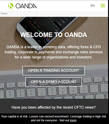 OANDA lets you automate your trading strategies