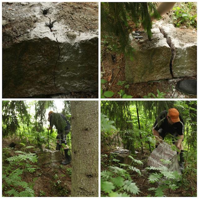 kivikiiloilla kiven halkaisu