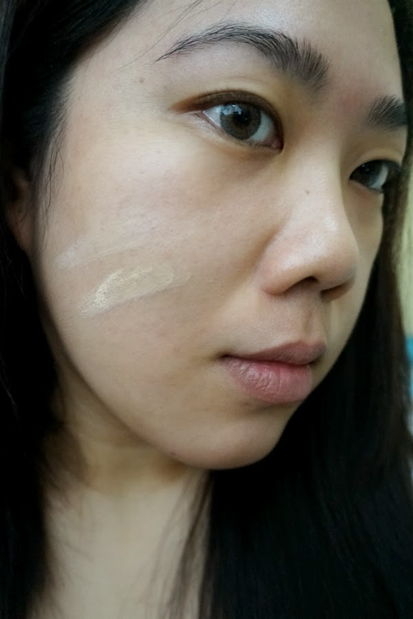 Mizon Oh! Shy Lady Aqua Layer Foundation Applied