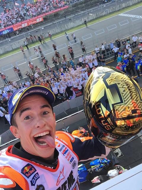 berita motogp Saat tahu Rossi-Lorenzo terjatuh, Marquez gagal fokus