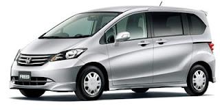 Rental / Sewa Mobil Harian Lepas Kunci HONDA FREED di Jakarta